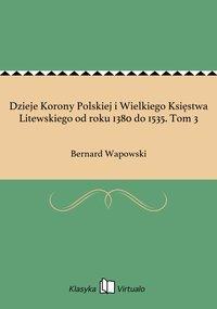 Dzieje Korony Polskiej i Wielkiego Księstwa Litewskiego od roku 1380 do 1535. Tom 3 - Bernard Wapowski - ebook