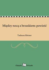 Między nocą a brzaskiem: powieść - Tadeusz Rittner - ebook