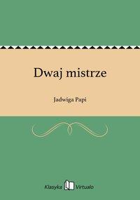 Dwaj mistrze - Jadwiga Papi - ebook