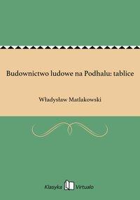 Budownictwo ludowe na Podhalu: tablice - Władysław Matlakowski - ebook
