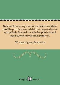 Nefelonikones, urywki z ociemicielstwa: zbior osobliwych obrazow z dzieł dawnego świata w rękopiśmie Marewicza, miedzy powieściami tegoż autora ku wiecznej pamięci zachowany