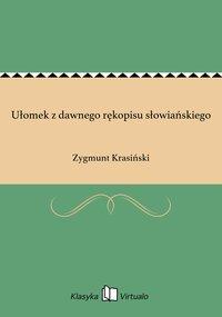 Ułomek z dawnego rękopisu słowiańskiego