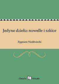 Jedyne dzieło: nowelle i szkice - Zygmunt Niedźwiecki - ebook