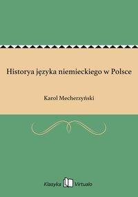 Historya języka niemieckiego w Polsce