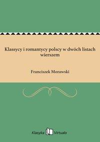 Klassycy i romantycy polscy w dwóch listach wierszem