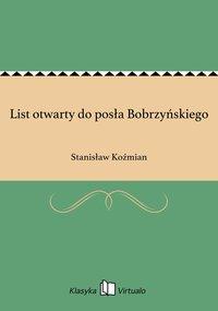 List otwarty do posła Bobrzyńskiego