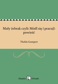 Mały żebrak czyli: Módl się i pracuj!: powieść - Thekla Gumpert - ebook