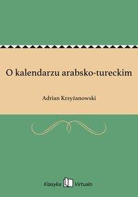 O kalendarzu arabsko-tureckim