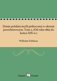 Dzieje polskiej myśli politycznej w okresie porozbiorowym. Tom 2, (Od roku 1863 do końca XIX w.) - Wilhelm Feldman - ebook