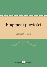 Fragment powieści - Leonard Sowiński - ebook