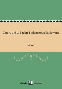 Cztery dni w Baden-Baden: nowella Sewera.