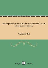Siedm psalmów pokutnych w duchu Dawidowym, ułożonych do śpiewu