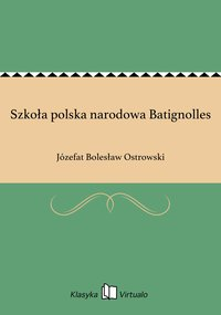 Szkoła polska narodowa Batignolles