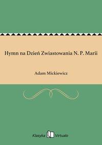 Hymn na Dzień Zwiastowania N. P. Marii