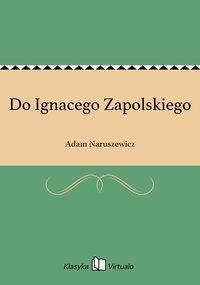Do Ignacego Zapolskiego