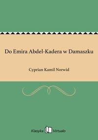 Do Emira Abdel-Kadera w Damaszku