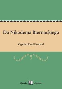 Do Nikodema Biernackiego
