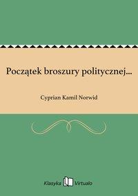 Początek broszury politycznej...