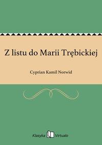 Z listu do Marii Trębickiej