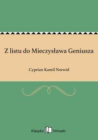 Z listu do Mieczysława Geniusza