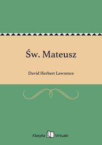 Św. Mateusz - David Herbert Lawrence - ebook