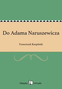 Do Adama Naruszewicza