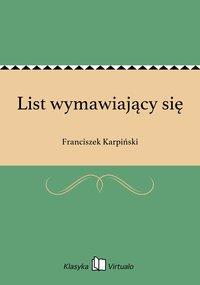 List wymawiający się - Franciszek Karpiński - ebook