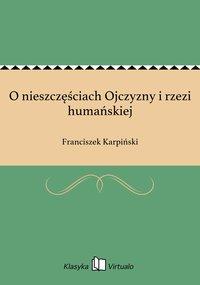 O nieszczęściach Ojczyzny i rzezi humańskiej - Franciszek Karpiński - ebook