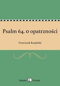 Psalm 64. 0 opatrzności