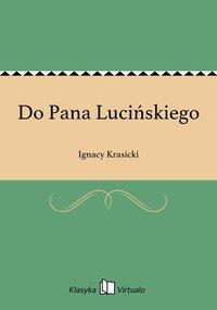 Do Pana Lucińskiego