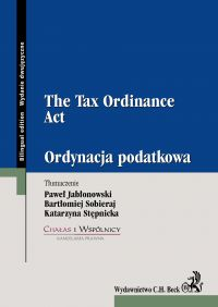 Ordynacja podatkowa. The Tax Ordinance Act