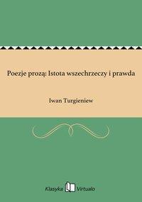 Poezje prozą: Istota wszechrzeczy i prawda