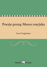 Poezje prozą: Mowa rosyjska