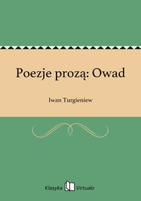 Poezje prozą: Owad