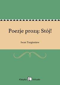 Poezje prozą: Stój!
