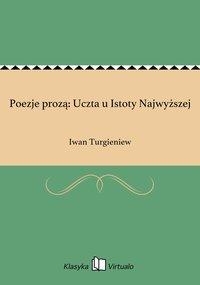 Poezje prozą: Uczta u Istoty Najwyższej