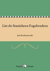 List do Stanisława Fogelwedera