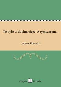 To było w duchu, ojcze! A tymczasem... - Juliusz Słowacki - ebook