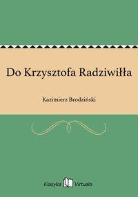 Do Krzysztofa Radziwiłła