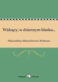 Widzący, w dziennym blasku... - Maksymilian Aleksandrowicz Wołoszyn - ebook