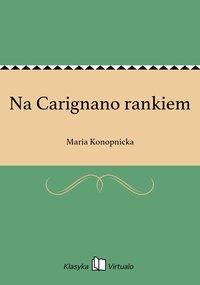 Na Carignano rankiem