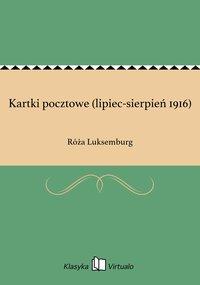 Kartki pocztowe (lipiec-sierpień 1916) - Róża Luksemburg - ebook