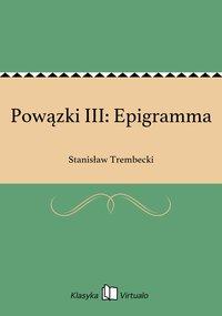 Powązki III: Epigramma - Stanisław Trembecki - ebook
