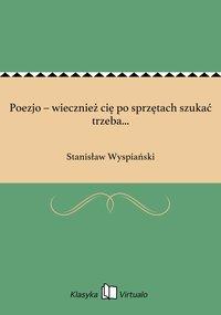 Poezjo – wiecznież cię po sprzętach szukać trzeba...