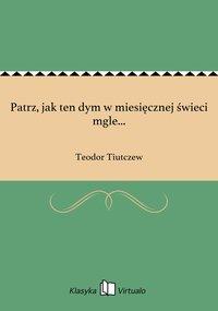 Patrz, jak ten dym w miesięcznej świeci mgle... - Teodor Tiutczew - ebook