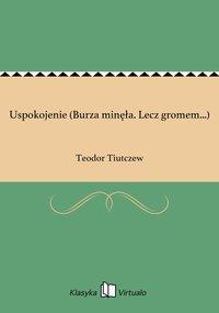 Uspokojenie (Burza minęła. Lecz gromem...) - Teodor Tiutczew - ebook