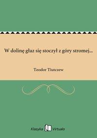 W dolinę głaz się stoczył z góry stromej... - Teodor Tiutczew - ebook
