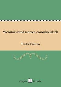Wczoraj wśród marzeń czarodziejskich - Teodor Tiutczew - ebook